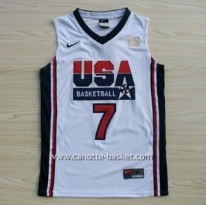 maglie basket 1992 USA Larry Bird #7 bianco