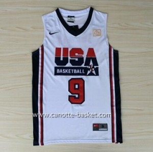 maglie basket 1992 USA Michael Jordan #9 bianco