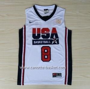 maglie basket 1992 USA Scottie Pippen #8 bianco