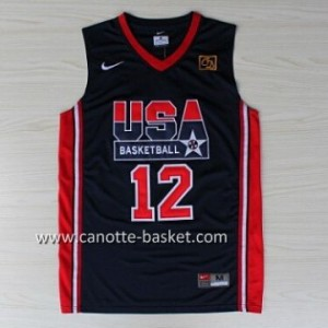maglie basket 1992 USA John Stockton #12 blu