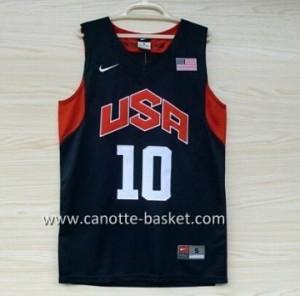 Maglie basket 2012 USA Kobi bryant #10 nero