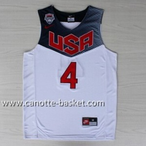 Maglie basket 2014 USA Stephen Curry #4 bianco