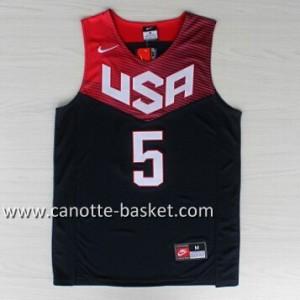 Maglie basket 2014 USA Kevin Durant #5 nero