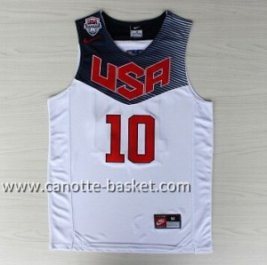 Maglie basket 2014 USA Kyrie Irving #10 bianco