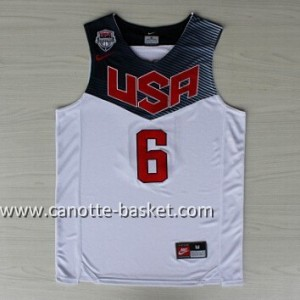 Maglie basket 2014 USA Derrick Rose #6 bianco