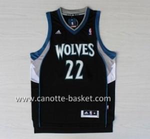 nuovo Maglie nba Minnesota Timberwolves Andrew Wiggins #22 nero