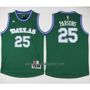 nuovo Maglie nba Dallas Mavericks Chandler Parsons #25 verde