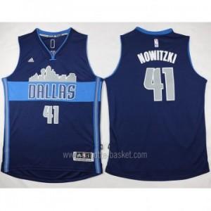 nuovo Maglie nba Dallas Mavericks Dirk Nowitzki #41 deep blu