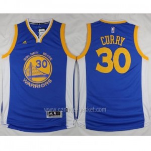 nuovo Maglie nba Golden State Warriors Stephen Curry #30 blu