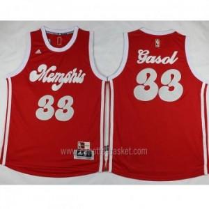 nuovo Maglie nba Memphis Grizzlies Marc Gasol #33 rosso