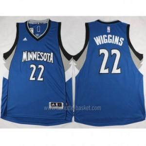 nuovo Maglie nba Minnesota Timberwolves Andrew Wiggins #22 blu