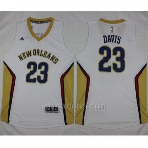 nuovo Maglie nba New Orleans Pelicans Anthony Davis #23 bianco