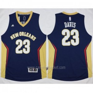 nuovo Maglie nba New Orleans Pelicans blu Anthony Davis #23