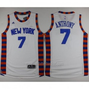 nuovo Maglie nba New York Knicks Carmelo Anthony #7 bianco