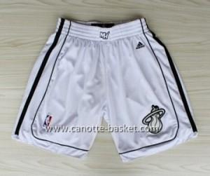 pantaloncini nba Miami Heat Nuovi tessut bianco