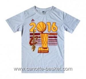 Magliette 2016 nba champions Cleveland Cavalier bianco LeBron James #23