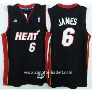 Maglie bambino Miami Heat LeBron James #6 nero