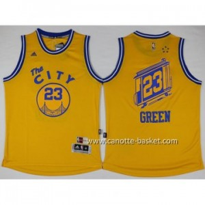 Maglie nba Golden State Warriors The CITY Draymond Green #23 giallo
