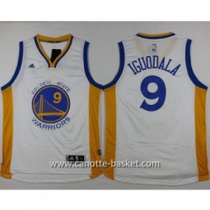 nuovo Maglie nba Golden State Warriors Andre Iguodala #9 bianco 14-15 stagione