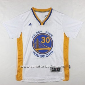 Maglie nba Golden State Warriors Stephen Curry #30 bianco manica corta
