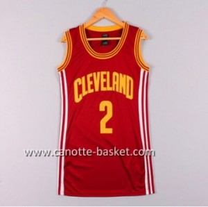 Maglie nba Donna Cleveland Cavaliers Kyrie Irving #2 rosso
