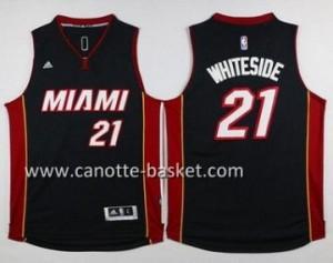 nuovo Maglie nba Miami Heat Hassan Whiteside #21 nero