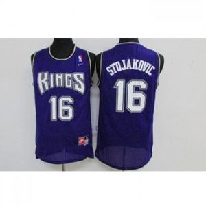 Maglie nba Sacramento Kings Peja Stojakovic #16 blu