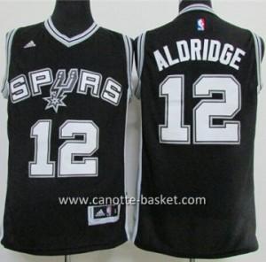 Maglie nba San Antonio Spurs LaMarcus Aldridge #12 nero
