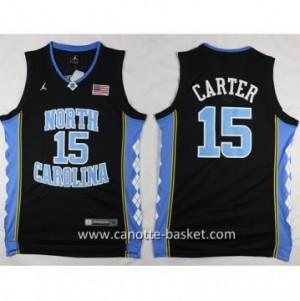 Maglie nba NCAA University of North Carolina Carter #15 nero