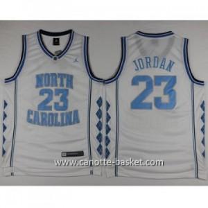 Maglie nba NCAA University of North Carolina Michael Jordan #23 bianco