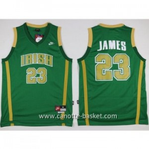 Maglie nba NCAA Scuola superiore LeBron James #23 verde