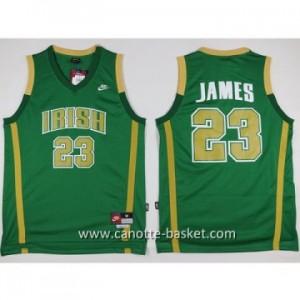 Maglie nba NCAA Scuola superiore LeBron James #23 verde