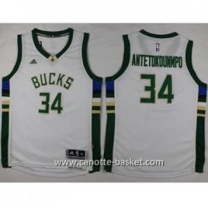 Maglie nba bambino Milwaukee Bucks Giannis Antetokounmpo #34 bianco