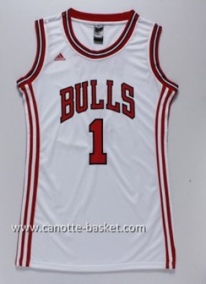 Maglie nba Donna Chicago Bulls Derrick Rose #1 bianco