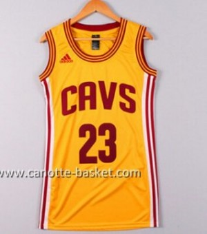 Maglie nba Donna Cleveland Cavaliers LeBron James #23 giallo