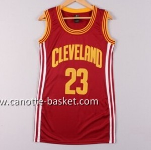Maglie nba Donna Cleveland Cavaliers LeBron James #23 rosso