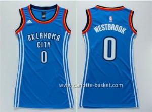 Maglie nba Donna Oklahoma City Thunder Russell Westbrook #0 blu