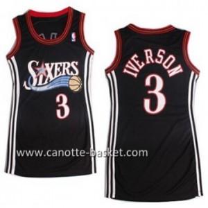 Maglie nba Donna Philadelphia 76ers Allen Iverson #3 nero