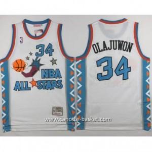 Maglie 1996 All-Star Hakeem Olajuwon #34 bianco