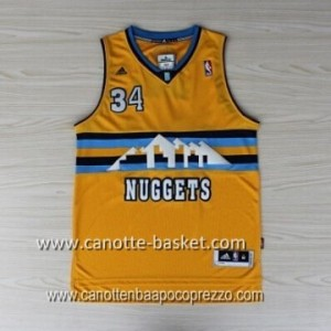 Maglie nba Denver Nuggets JaVale McGee #34 giallo