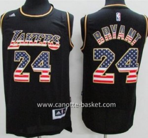 Maglie nba Los Angeles Lakers Kobe Bryant # 24 Flag Edition