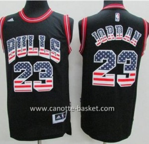 Maglie nba Chicago Bulls Michael Jordan #23 Flag Edition