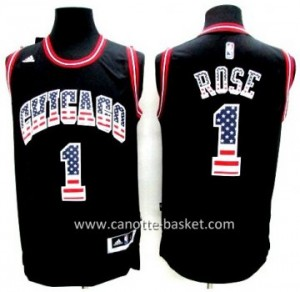 Maglie nba Chicago Bulls Derrick Rose # 1 Flag Edition
