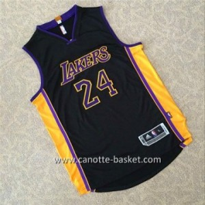 Maglie nba Los Angeles Lakers Kobe Bryant #24 nero AU tessuti