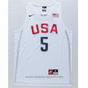 maglie basket 2016 USA Rio Olympics Kevin Durant #5 bianco