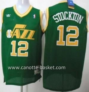 Maglie nba Utah Jazz John Stockton #12 verde