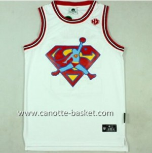 Maglie nba Michael Jordan #23 bianco Superman Edition