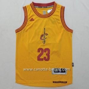 Maglie nba bambino Cleveland Cavalier LeBron James #23 giallo