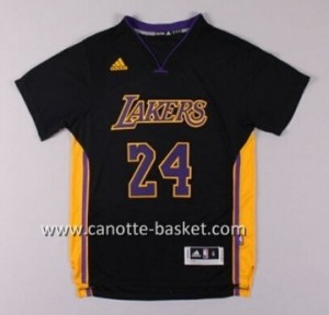 Maglie nba Los Angeles Lakers Kobe Bryant #24nero manica corta
