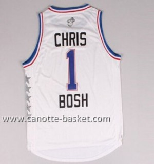 Maglie 2015 All-Star Chris Bosh #1 bianco